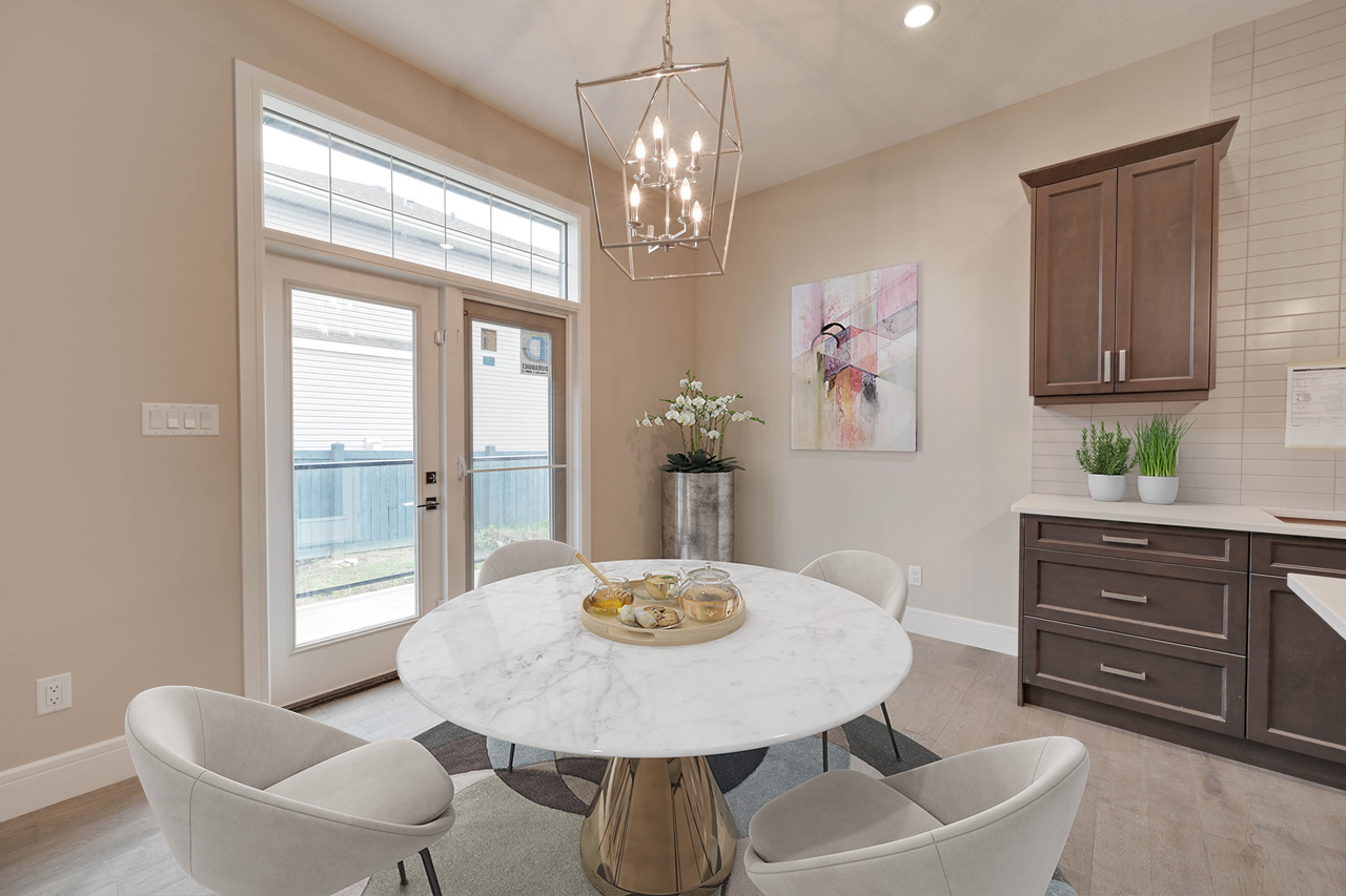 Bungalows for sale in Edmonton by Soren Homes dining nook